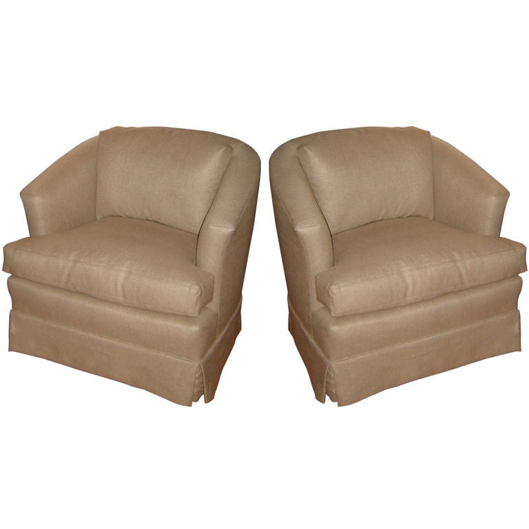 Pair Upholstered Rocker Chairs at 1stdibs