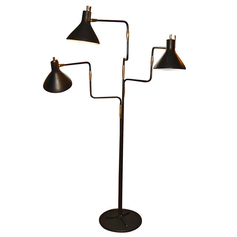 mid century standing lamp at 1stdibs. Black Bedroom Furniture Sets. Home Design Ideas