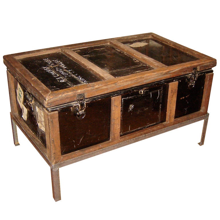 Steamer Trunk On Stand At 1stdibs