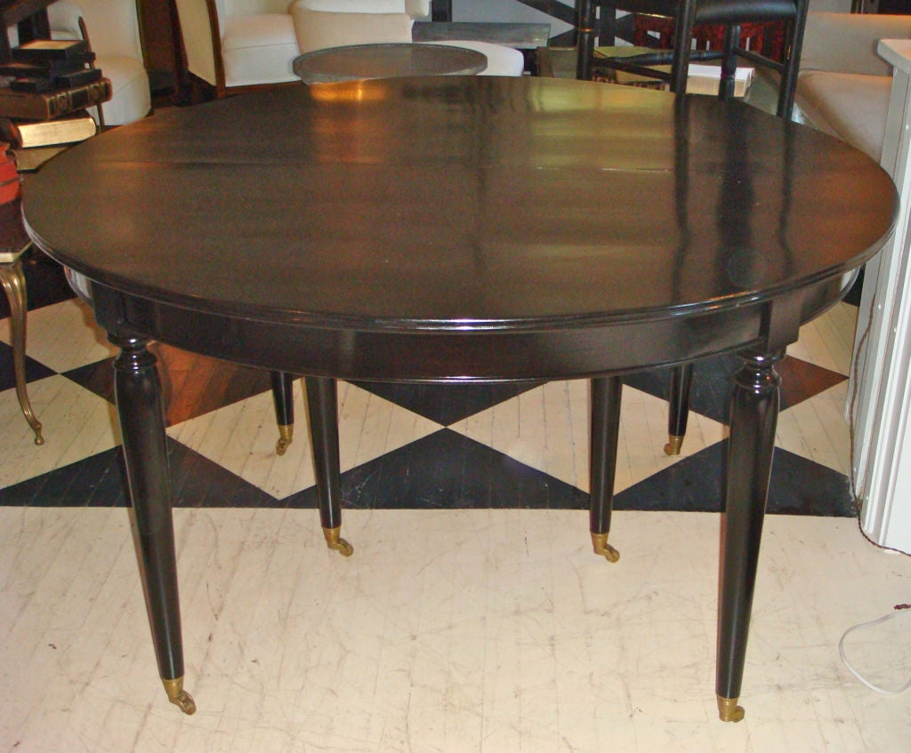 Black dining room table with leaf black dining room for Black dining table with leaf