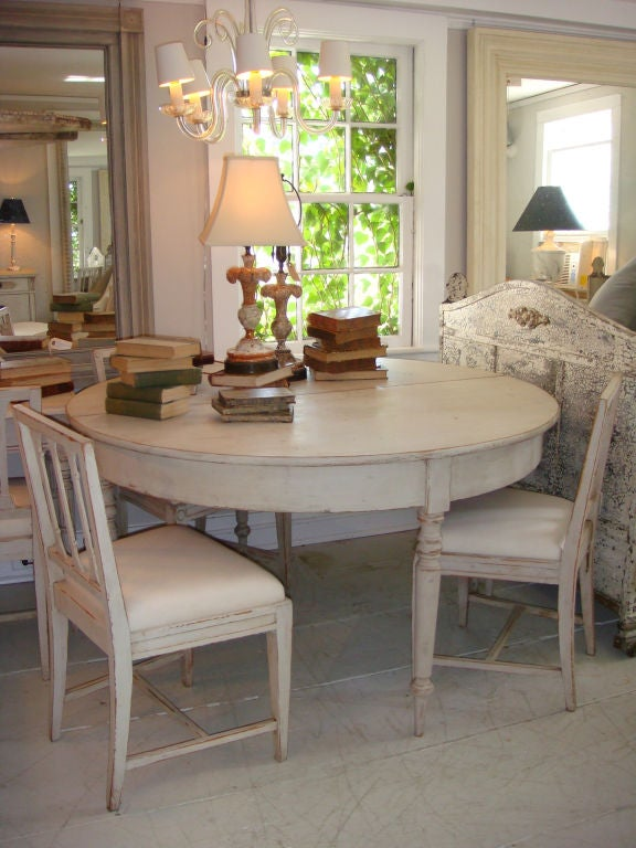 Pair Of Swedish Demi-Lune Tables At 1stdibs