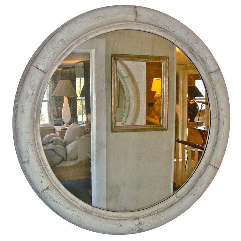 Huge round window frame mirror at 1stdibs for Big round mirror