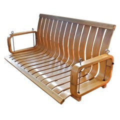 Rare Bentwood Porch Swing