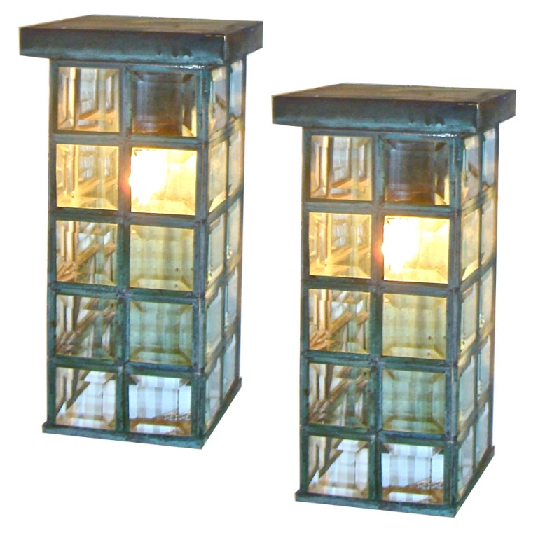 Mid Century Outdoor Sconces at 1stdibs