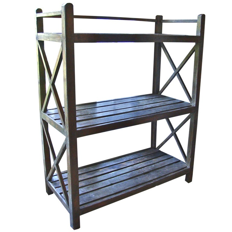 Wooden etagere at 1stdibs - Etagere cases carrees ...