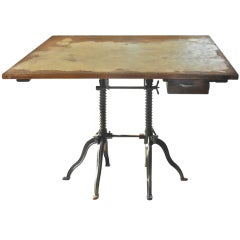 Very Rare Morse Double Base Drafting Table