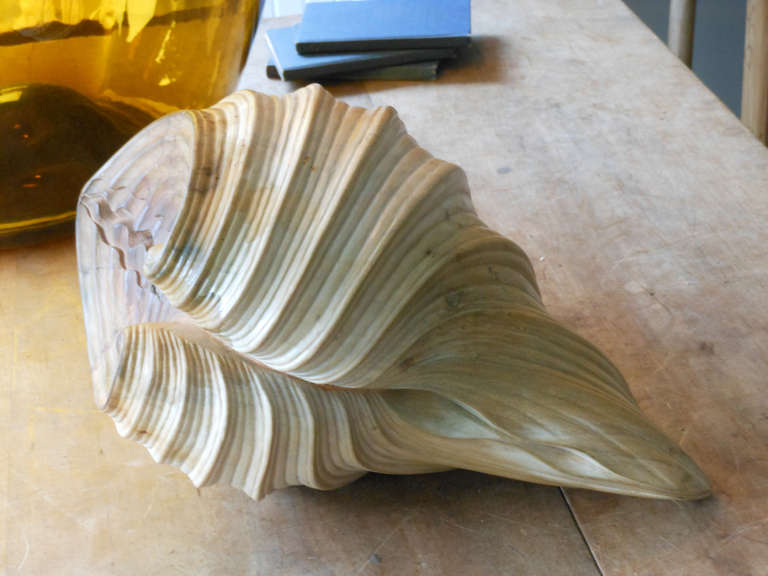 Large carved wooden shell at stdibs