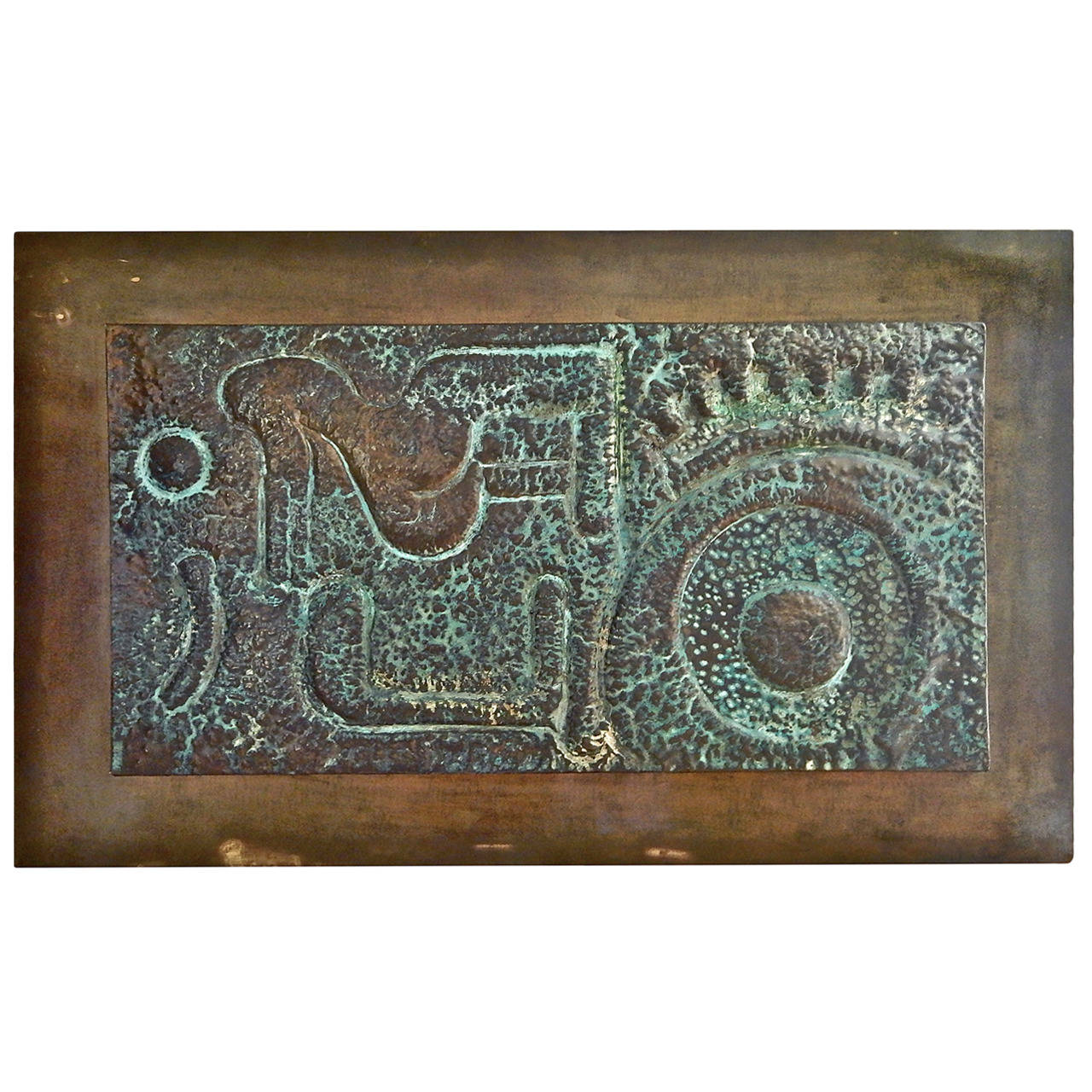 Large copper and bronze wall sculpture at 1stdibs for Bronze wall art