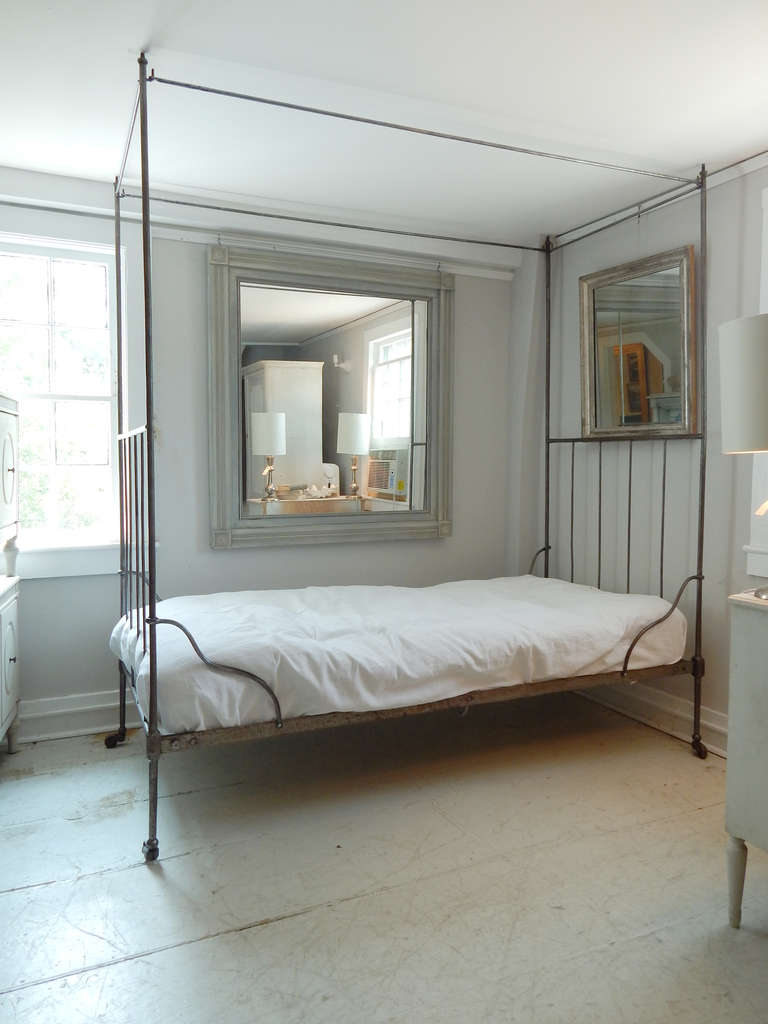 French Iron Canopy Bed at 1stdibs