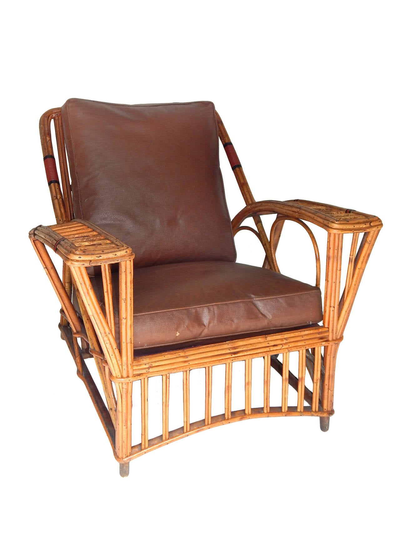 Three piece blonde stick wicker or twin reed set at 1stdibs for Wicker reed