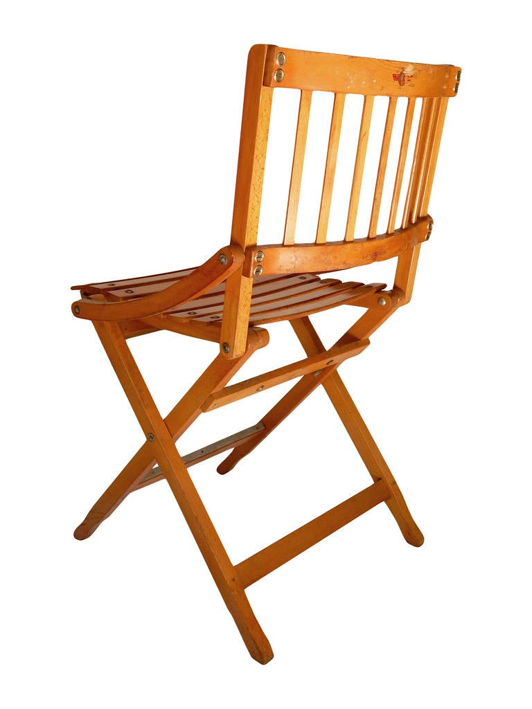 Four Folding Brevetti Reguitti Chairs At 1stdibs