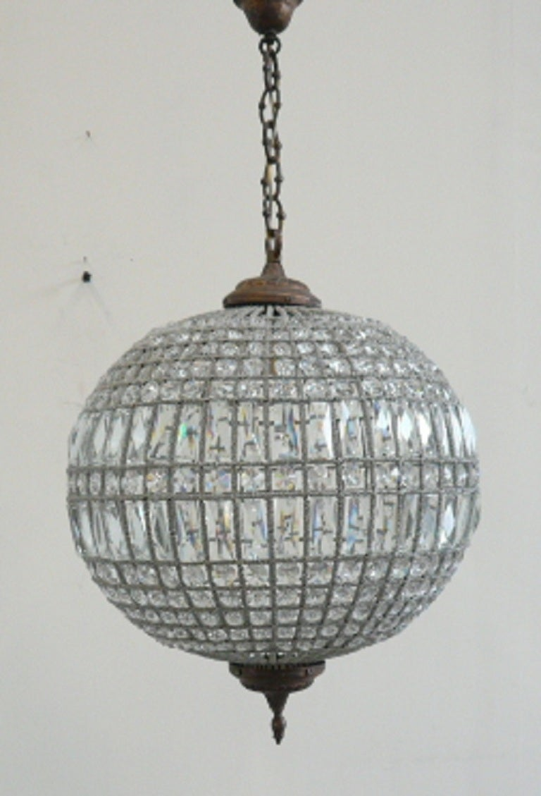 Glass Ball Chandelier For Sale At 1stdibs