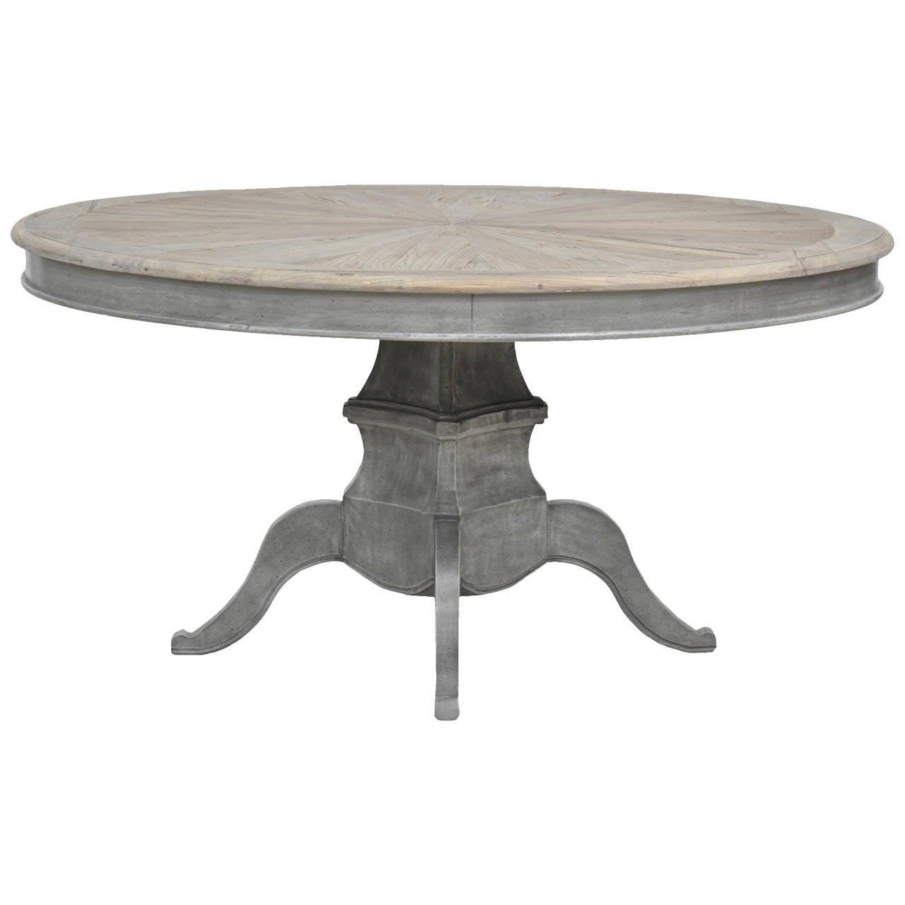 Grey Wash Dining Table At 1stdibs