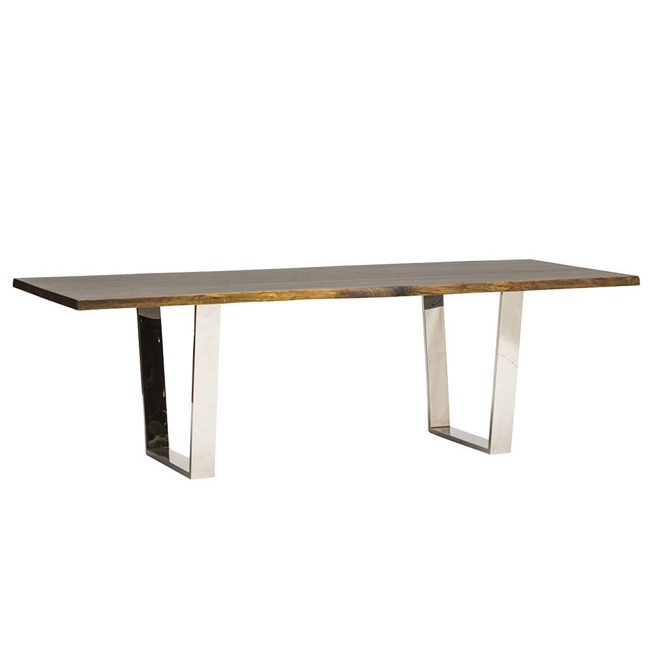 Contemporary seared oak dining table for sale at 1stdibs for Modern oak dining table