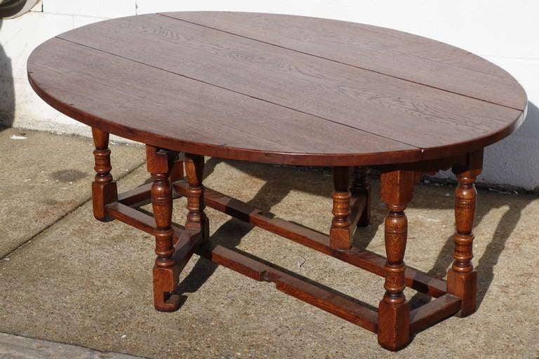 Custom English Gateleg Coffee Table At 1stdibs