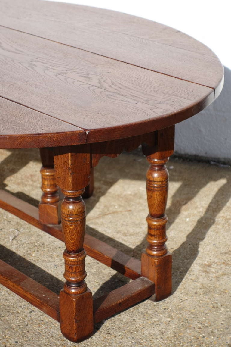 Custom English Gateleg Coffee Table For Sale At 1stdibs