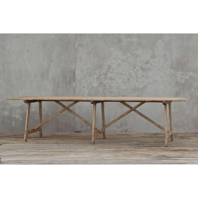 Rustic Kitchen Tables For Sale: X-Base Rustic Dining Table For Sale At 1stdibs