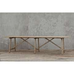 X-Base Rustic Dining Table