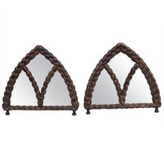 Pair of Gothic Table Mirrors