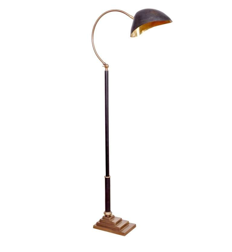 black and gold floor lamp at 1stdibs. Black Bedroom Furniture Sets. Home Design Ideas