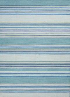 Blue Striped Dhurrie