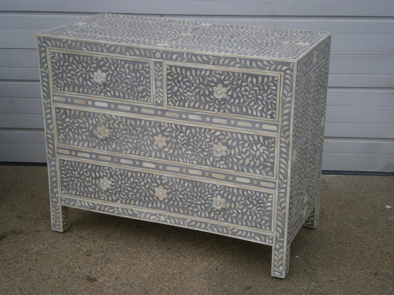 Grey Inlaid Chest Of Drawers For Sale