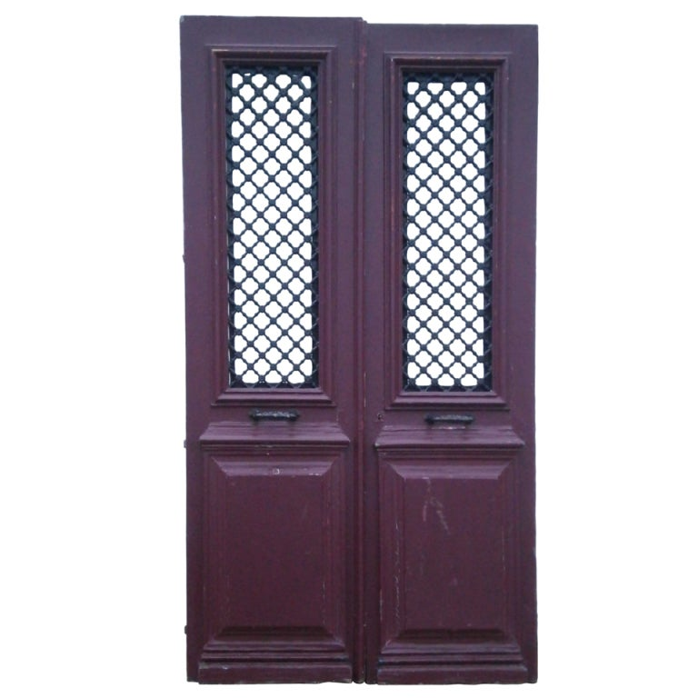 Pair large french doors at 1stdibs for Large french doors