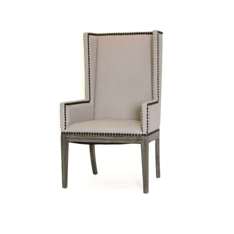 Awesome Linen Nailhead Dining Chair Bralicious Painted Fabric Chair Ideas Braliciousco