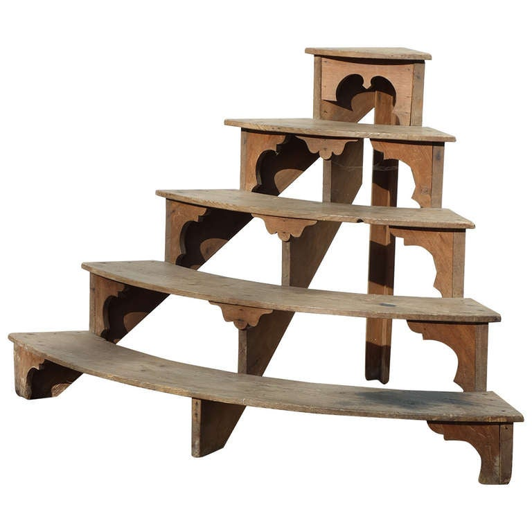 English Wooden Plant Stand at 1stdibs