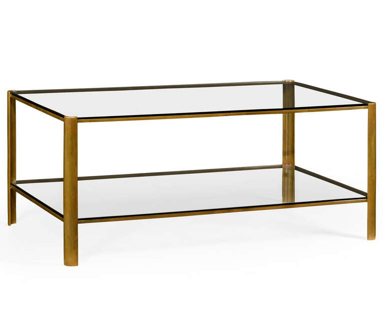 Brass And Glass Coffee Table For Sale At 1stdibs
