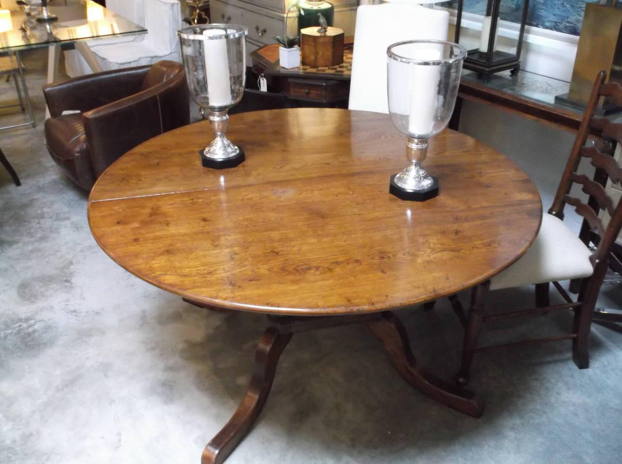 custom made oak dining table for sale at 1stdibs. Black Bedroom Furniture Sets. Home Design Ideas