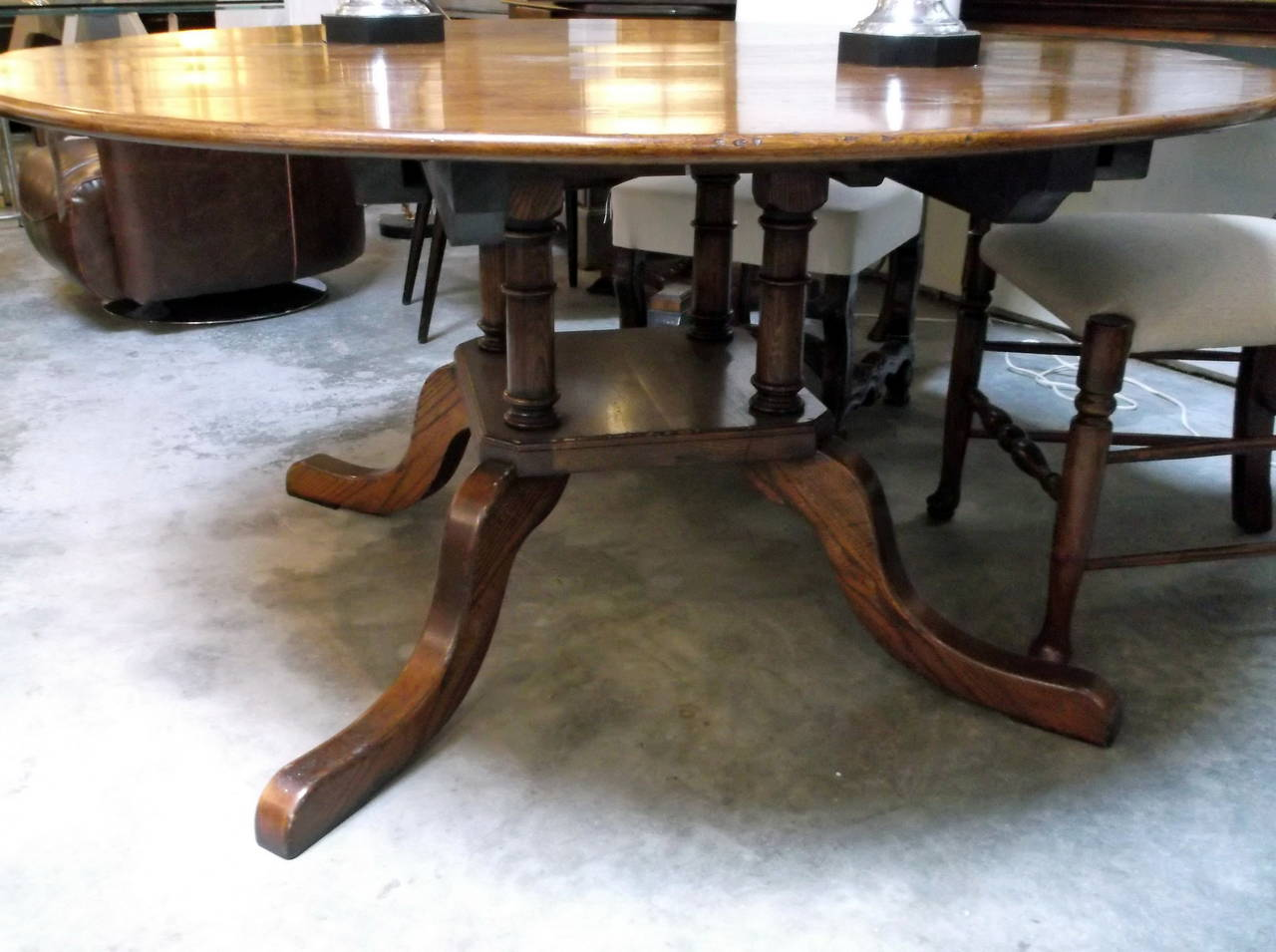 custom made oak dining table for sale at 1stdibs