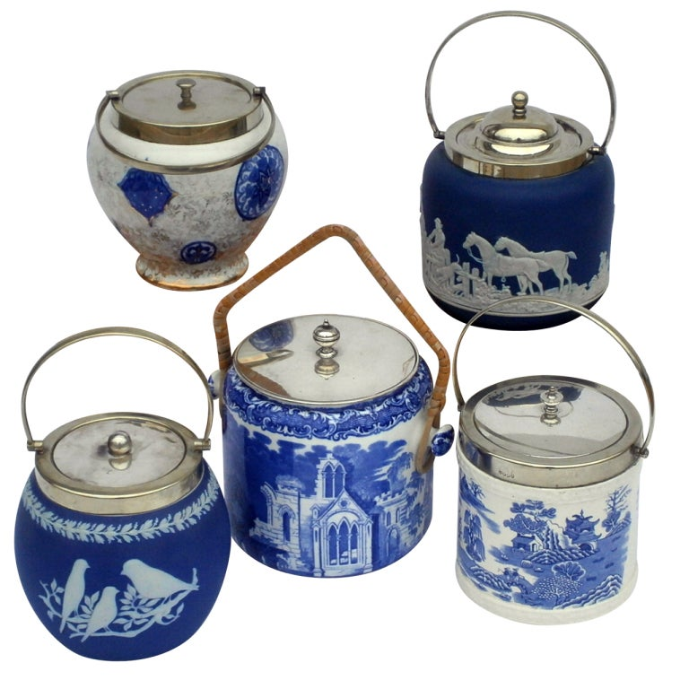English Biscuit Barrels For Sale
