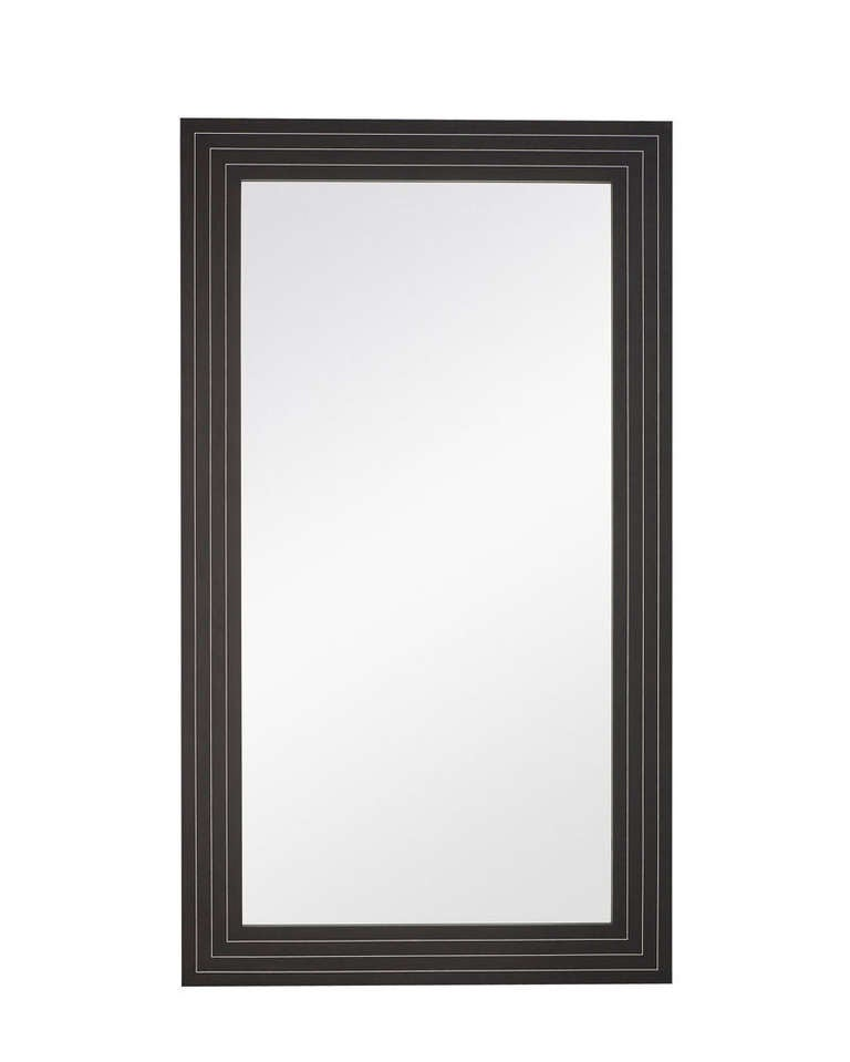 Black framed mirror with steel inlay for sale at 1stdibs for Metal frame mirror