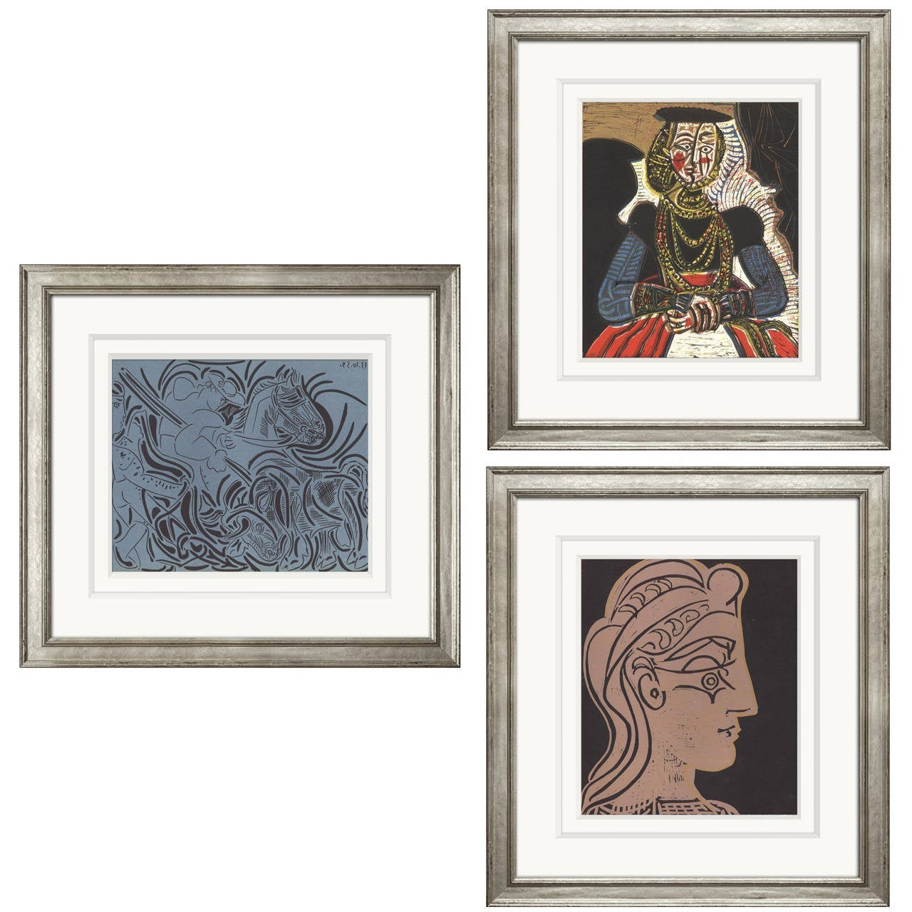 Reproductions of Picasso's 1962 Linocuts 1