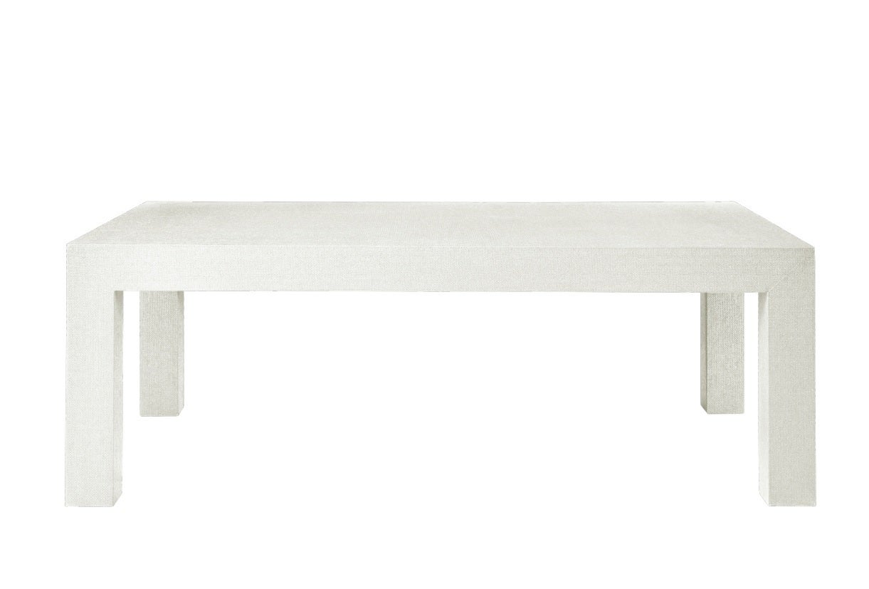 Grasscloth Coffee Table White Lacquered Grasscloth Coffee Table For Sale At 1stdibs