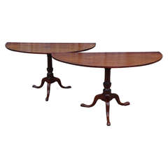 Pair Pedestal Base Demi-Lunes