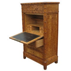 French Faux Bamboo Secretaire