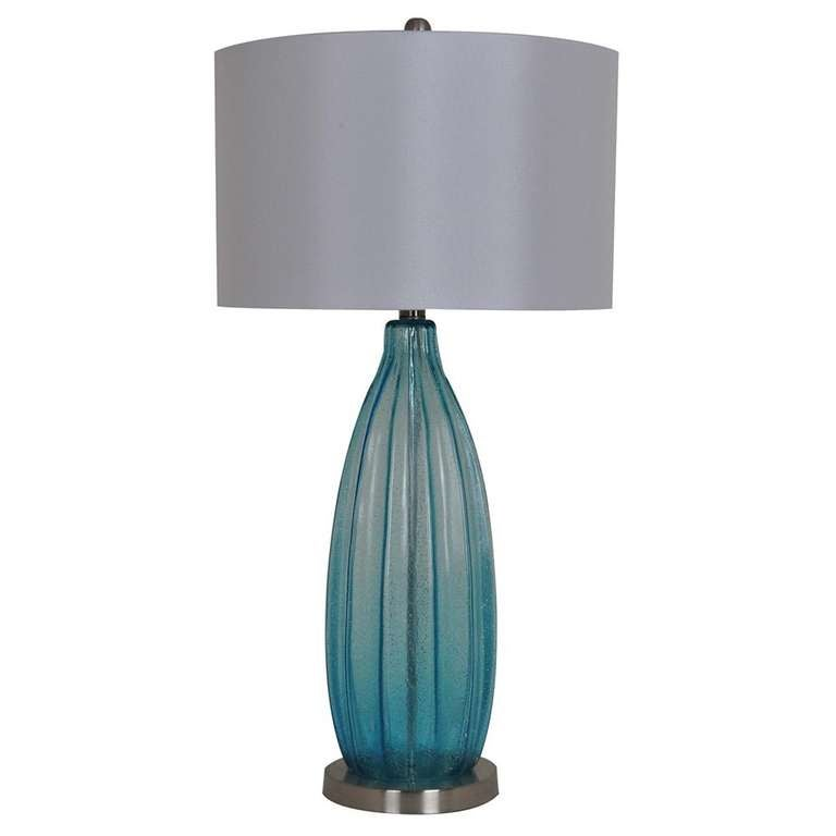 fluted gourd lamp for sale at 1stdibs. Black Bedroom Furniture Sets. Home Design Ideas