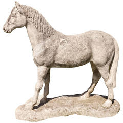 Large French Stone Horse