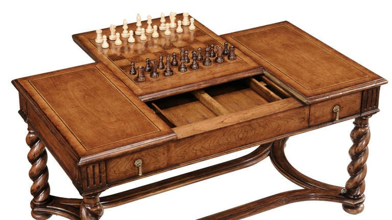 Parquetry Cocktail Games Table For Sale At 1stdibs