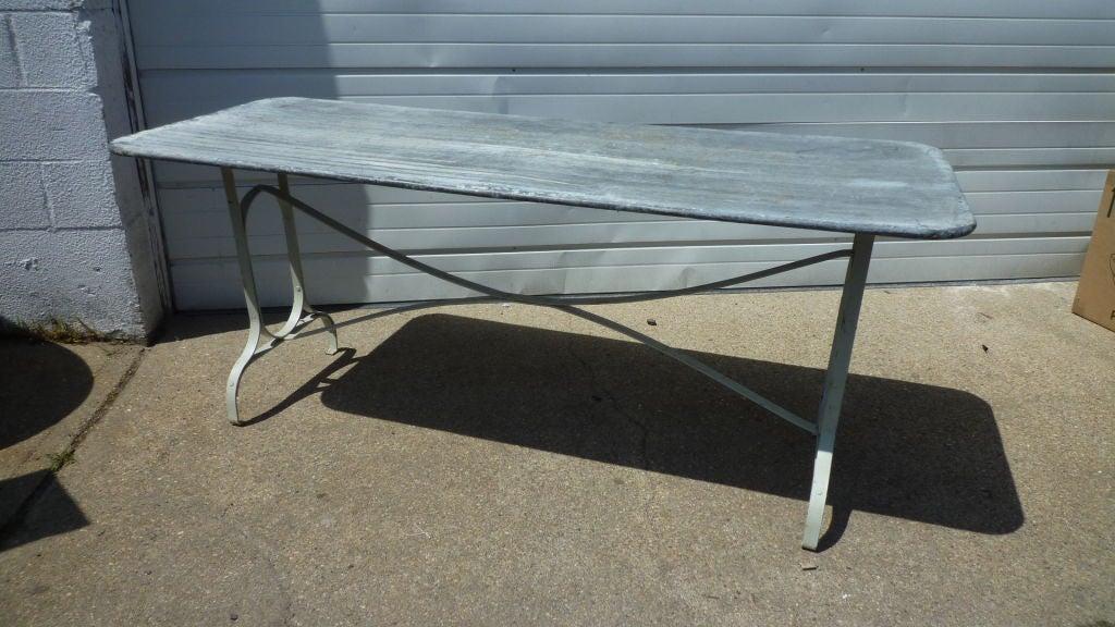 Narrow Zinc Topped Table At 1stdibs