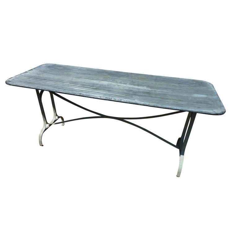Narrow zinc topped table at 1stdibs for Very narrow dining room tables