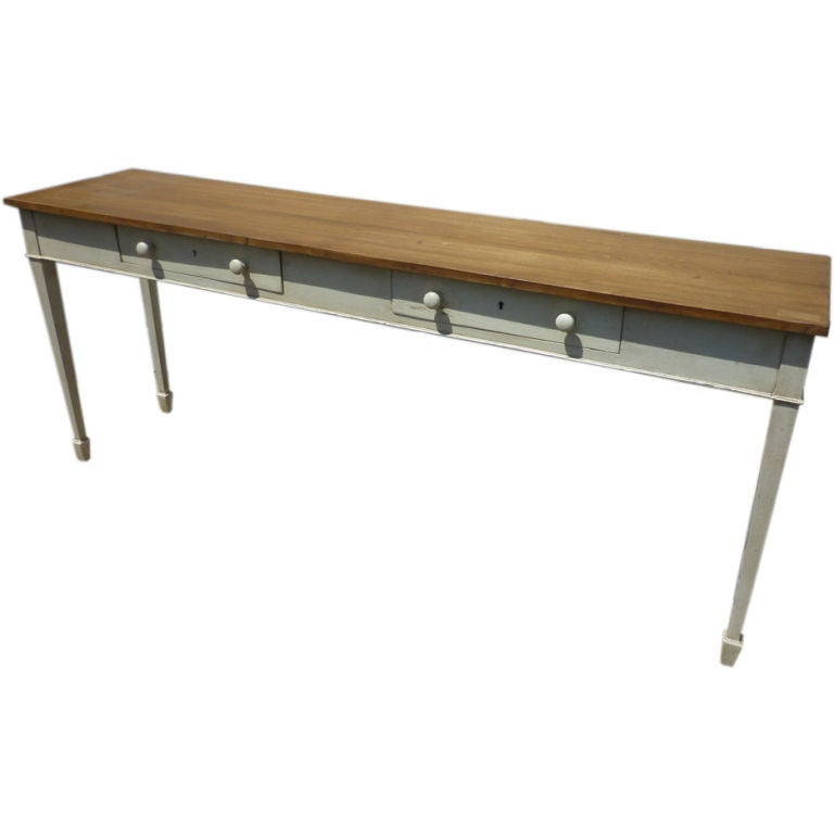 Narrow console table at 1stdibs for Skinny console table