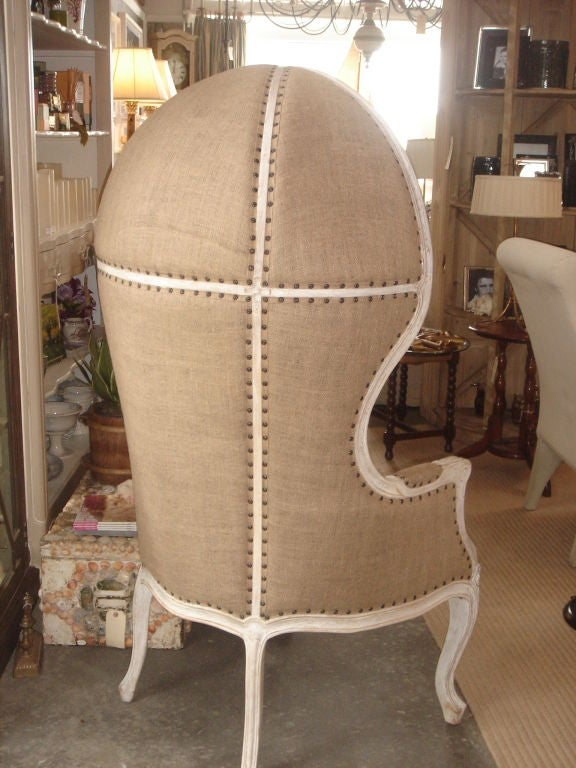 Burlap Upholstered Dome Chair For Sale At 1stdibs