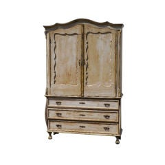 Early 19th C Swedish Cupboard on Chest