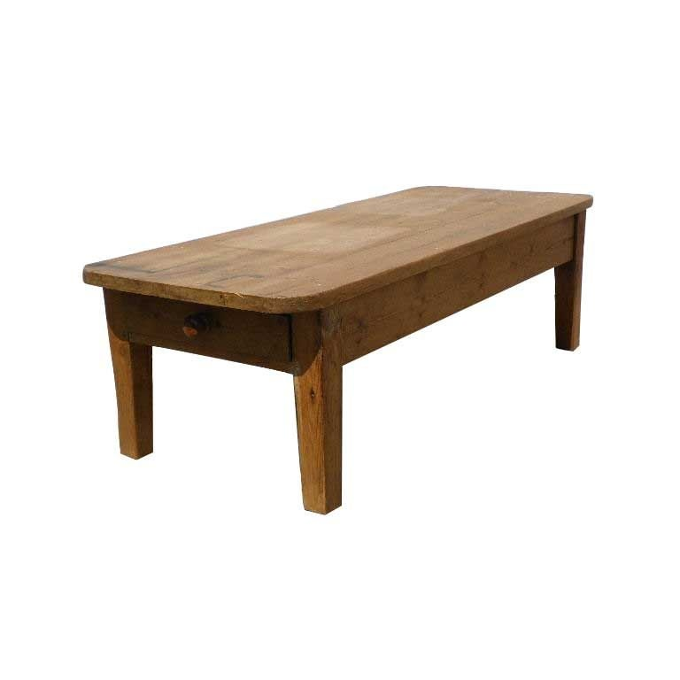 Old pine coffee table for sale at stdibs