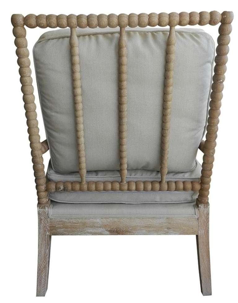 French Linen Bobbin Chair For Sale at 1stdibs