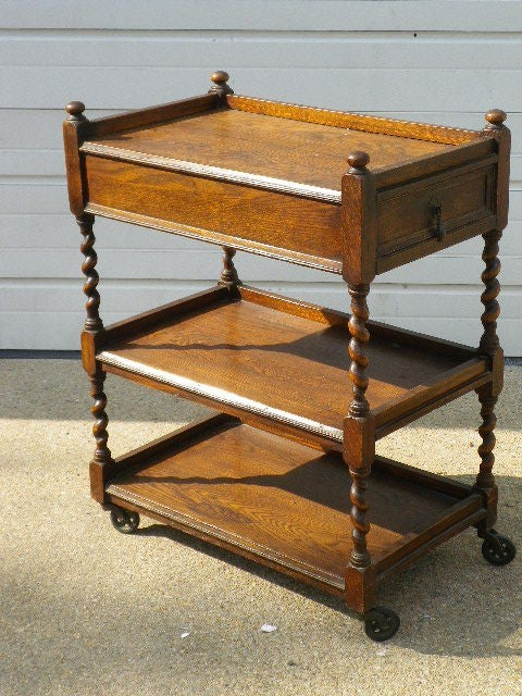 Victorian Tea Trolley With Drawer At 1stdibs
