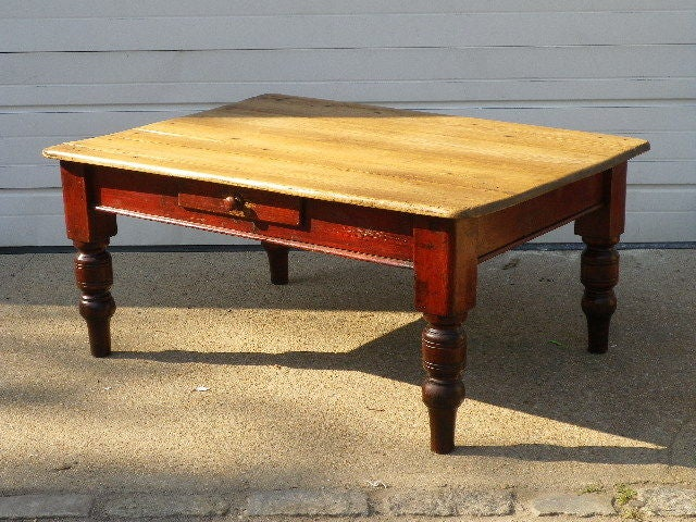 English Pine Coffee Table For Sale 1